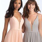 1557 A-line skirt bridesmiad dress