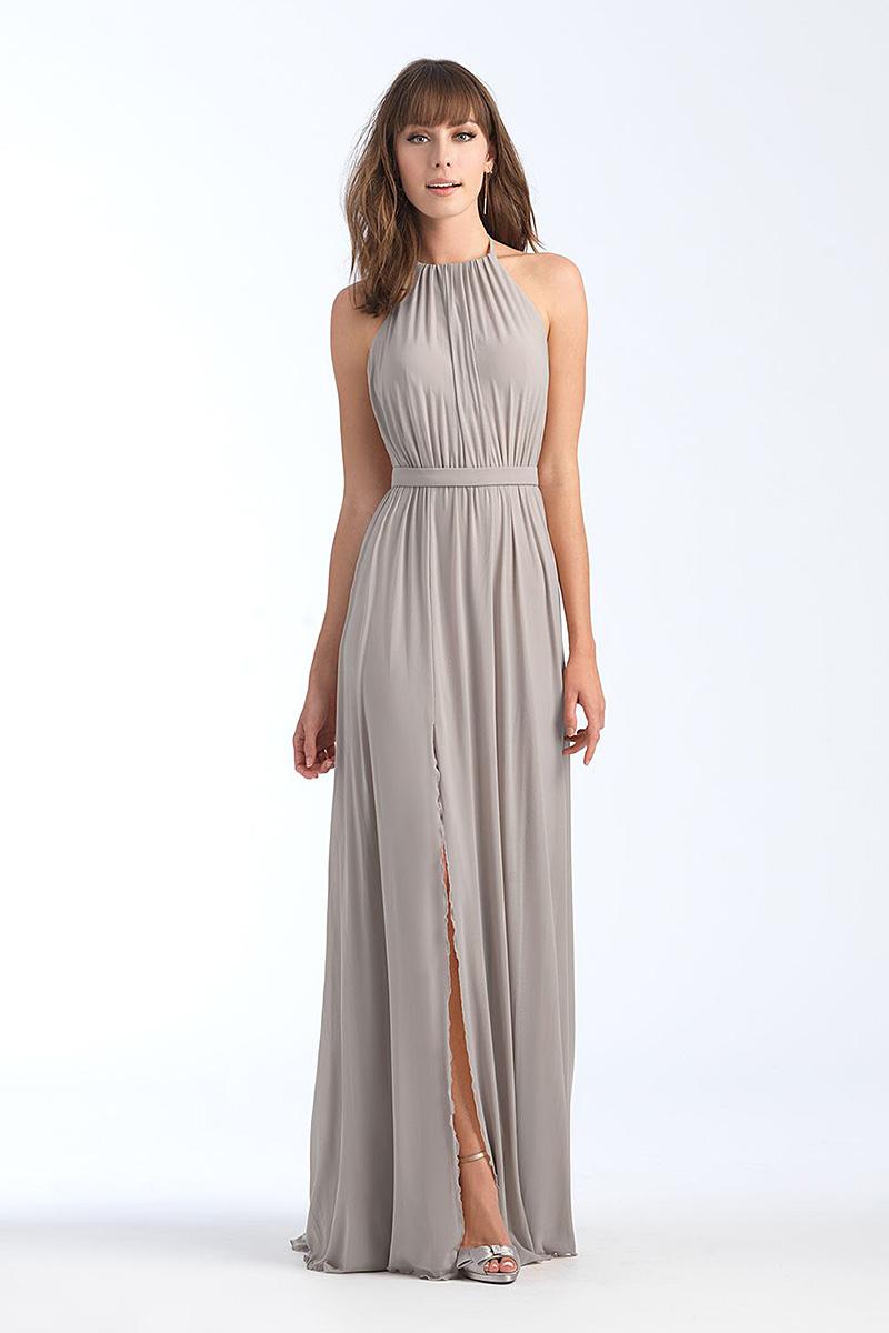 1559 Platinum backless bridesmaid dress