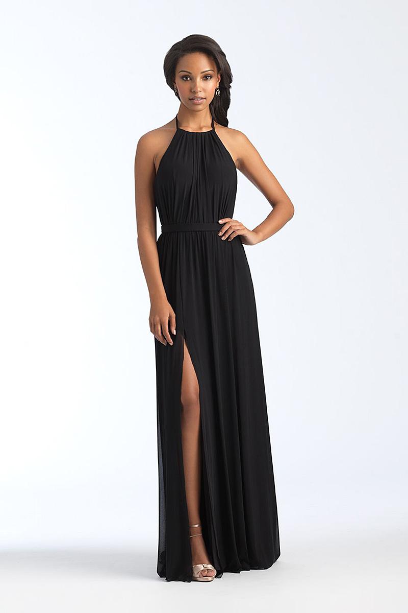1559 Black backless bridesmaid dress