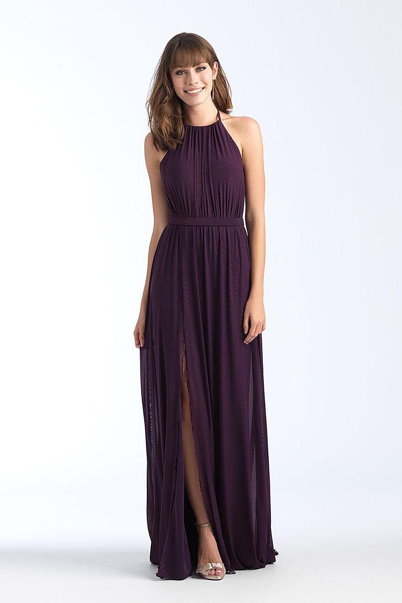 1559 Grape backless bridesmaid dress