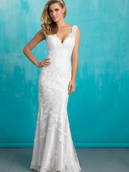 Allure 9304 white weddng dress