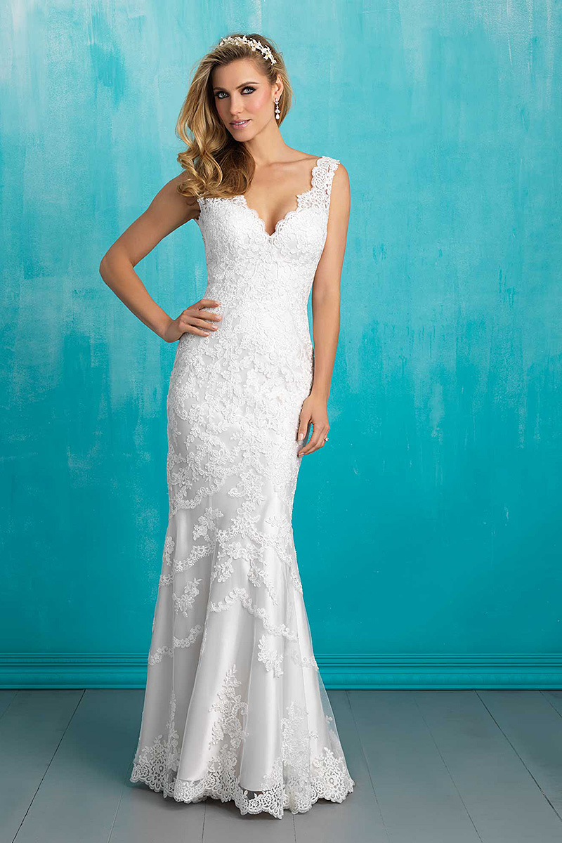 Allure 9304 white weddng dress