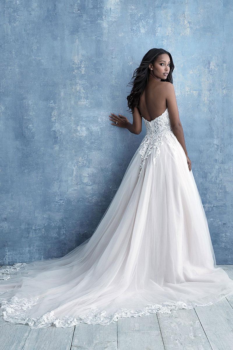 9715 Allure Bridals strapless tulle Wedding-Dress