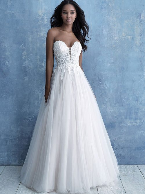 9715 Allure Bridals strapless tulle Wedding-Dress