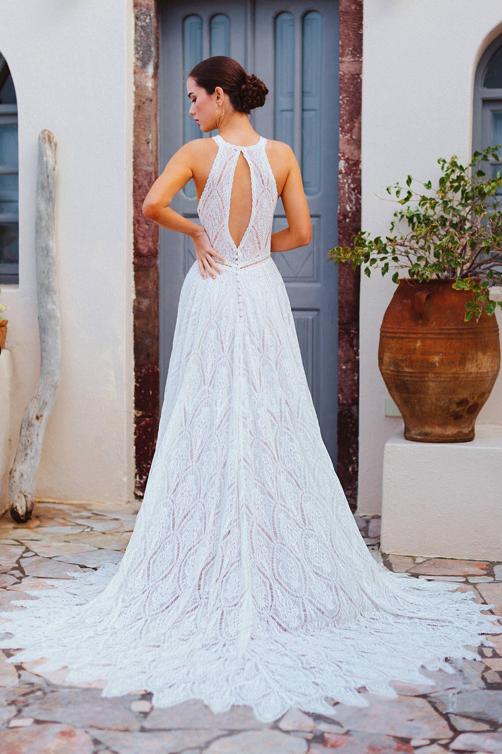 F167 Autum Wilderly Brides Bohemian Wedding Dress