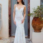 F169 Paisley Wedding Dress