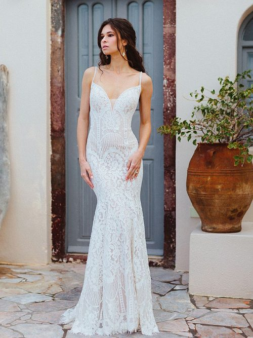 F169 Paisley Wedding Dress