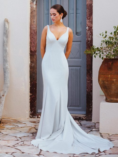 F174 Penelope Wilderly Bride Sheath Wedding Dress