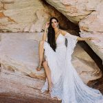 F190 Genevieve bohemian wedding dress