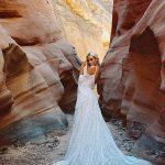 F190 Genevieve bohemian wedding dress