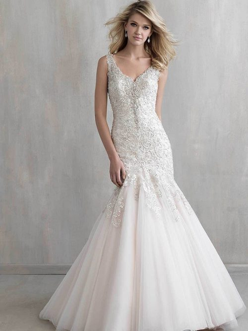 MJ207B MadisonJames fit-and flare Wedding Dress