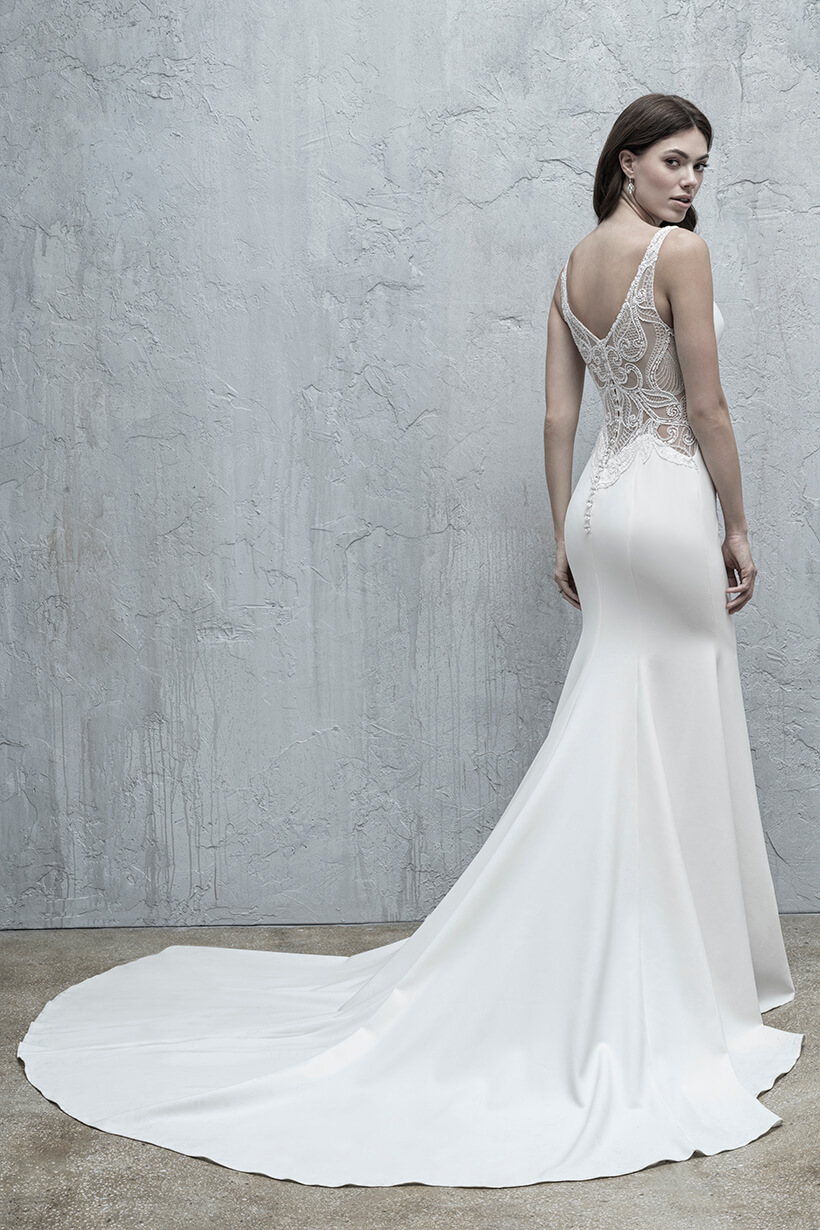 MJ572 Madison James Fit and Flare Bridal Gown