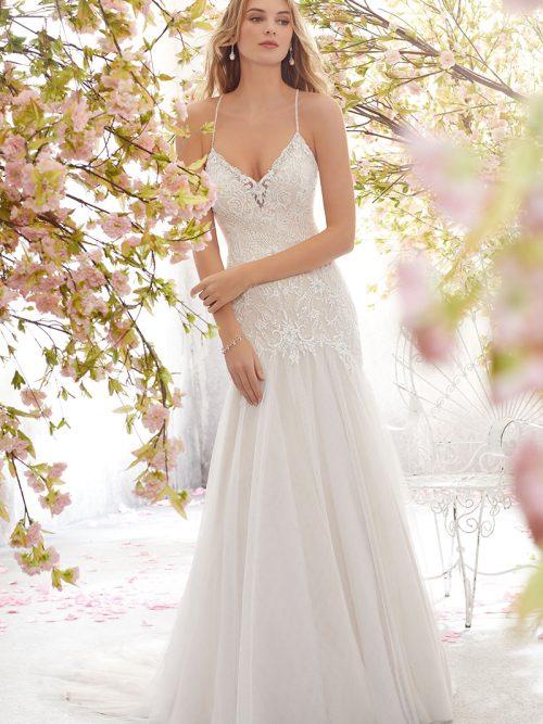 Lara Mori Lee Mermaid Wedding Gown 6895