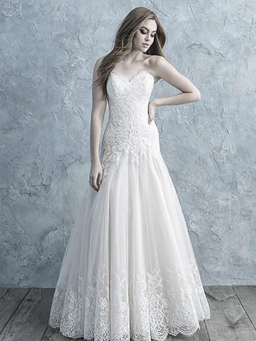 Allure Bridals Strapless Gown 9655