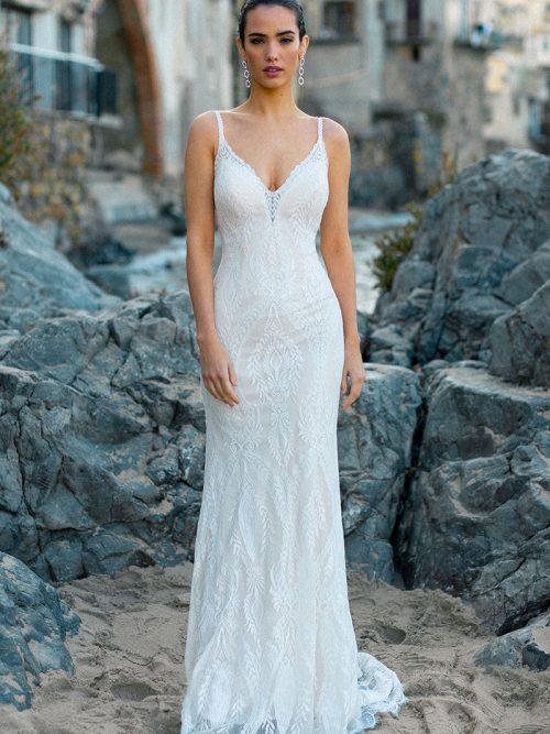 Finley Gossamer lining Wedding Dress F211