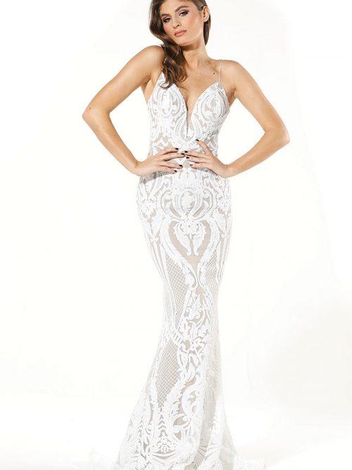 Tina Holly Fit and Flar Bridesmaids Dress T19280