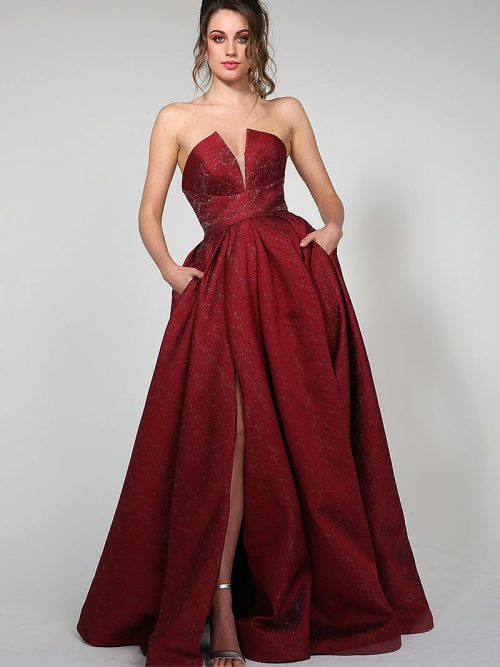 TA616 Tina Holly Bridesmaid Ball Gown